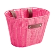 Pink Small Plastic Woven Basket