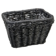 Black Wash Rattan Rectangular Basket