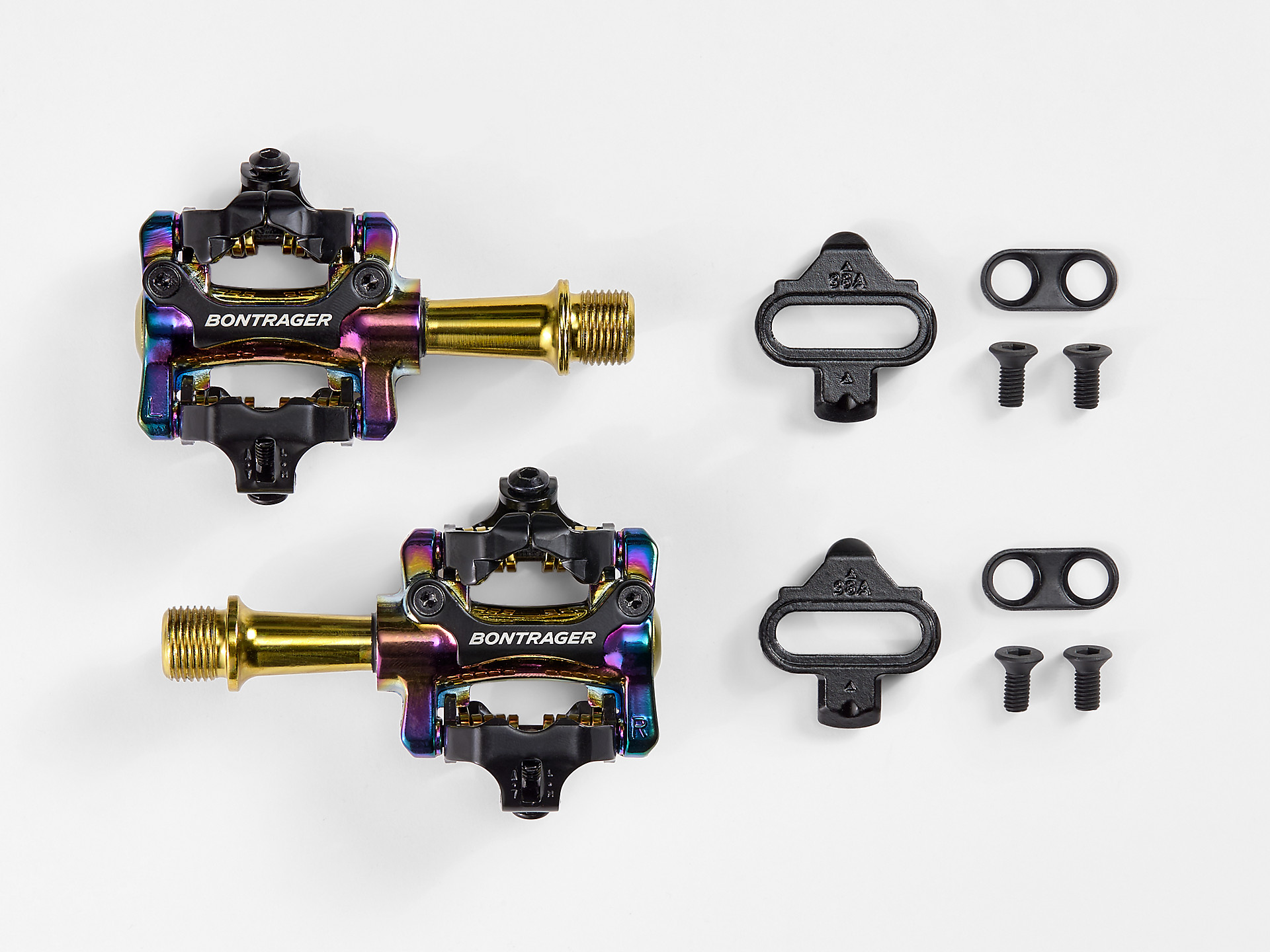 Bontrager Comp MTB Pedal Set gold_purple