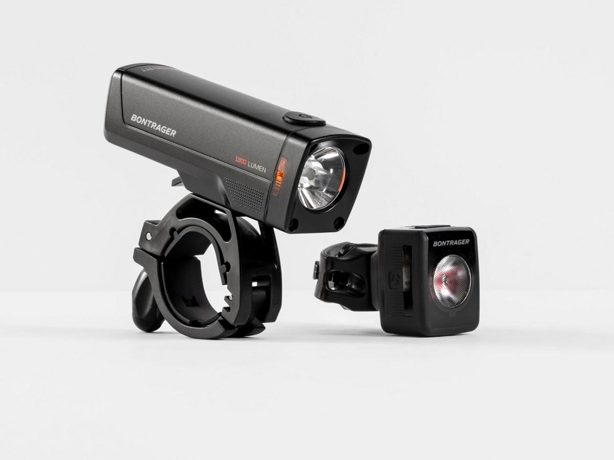 Fahrrad Beleuchtung: Bontrager Transmitr Lightning Set