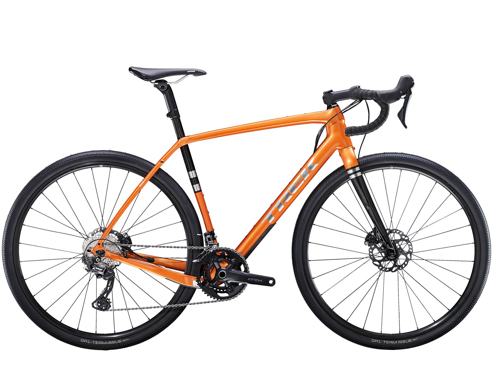 trek checkpoint orange gravel bike