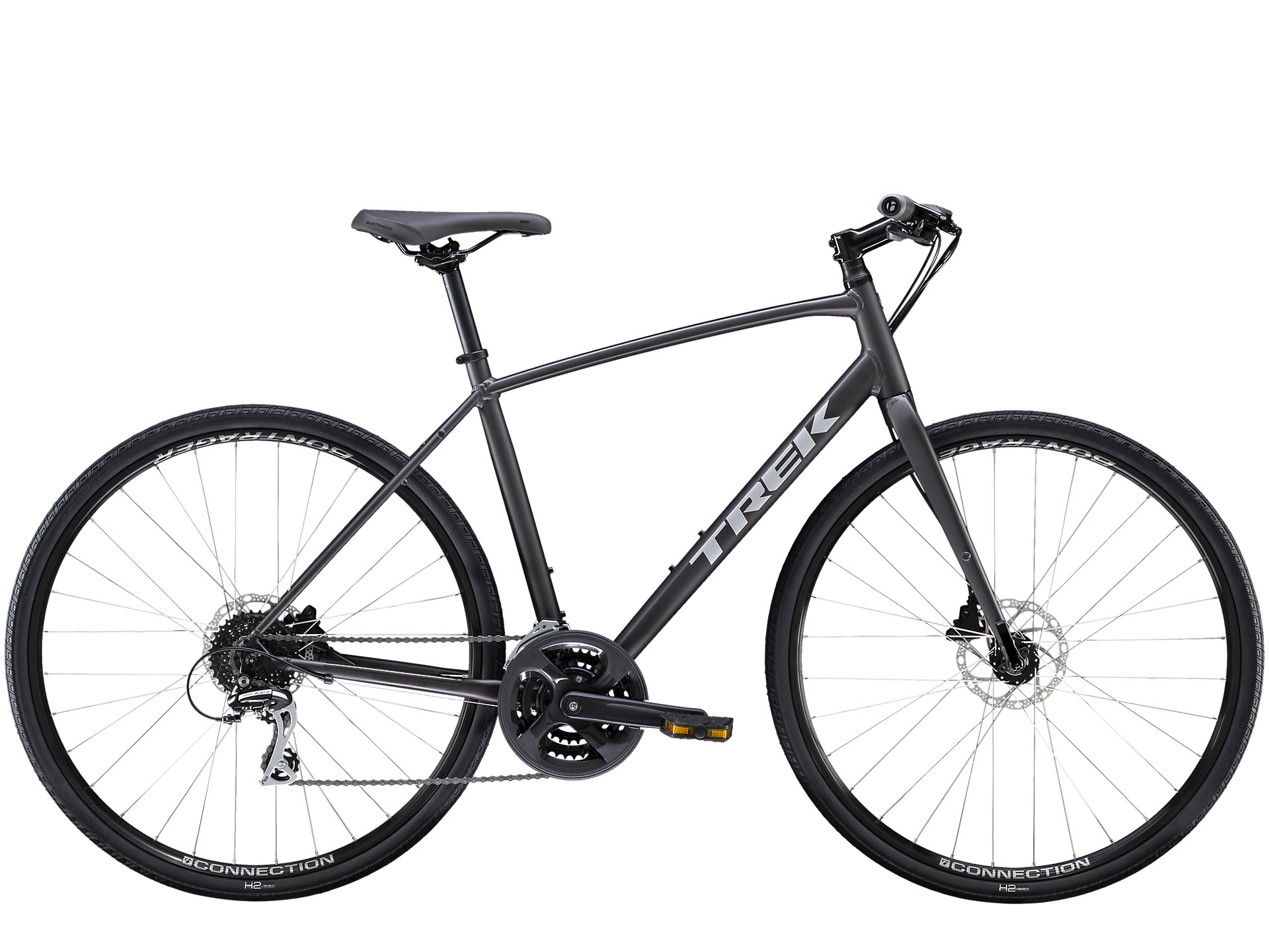 side facing trek fx 2 disc hybrid bike