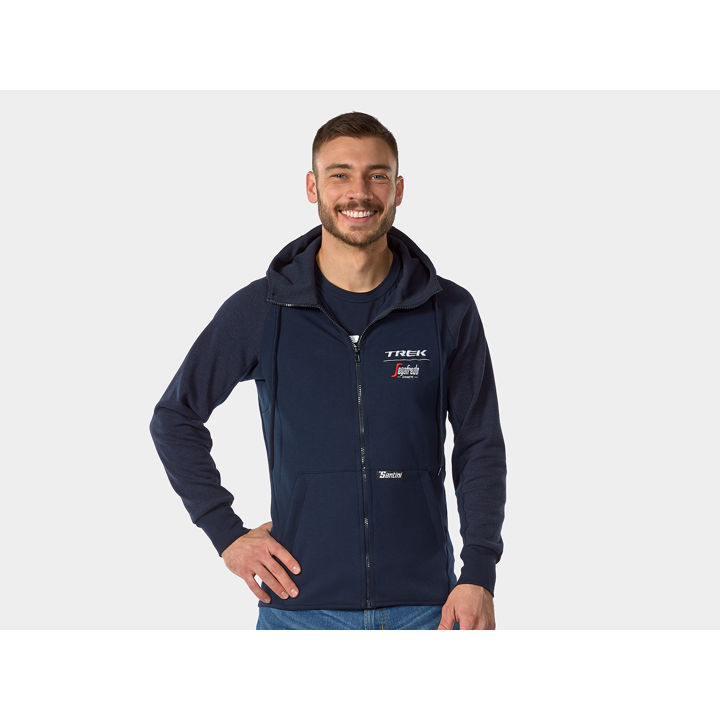 Jacket Santini Trek-Segafredo Hoodie Medium Black - 1042074
