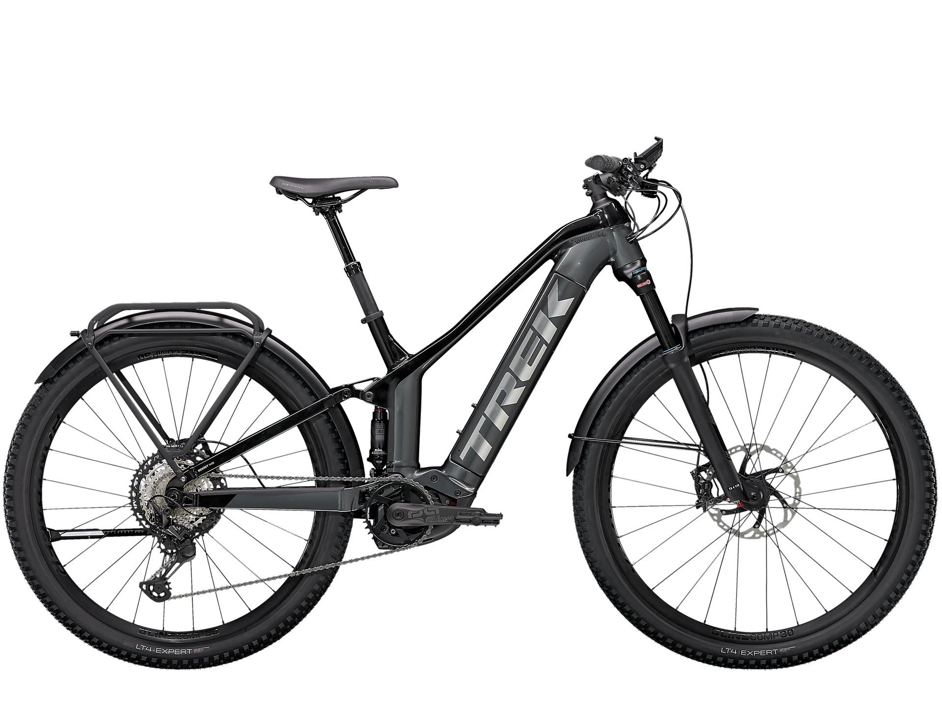 A full-suspension Trek electric bike for mountain touring