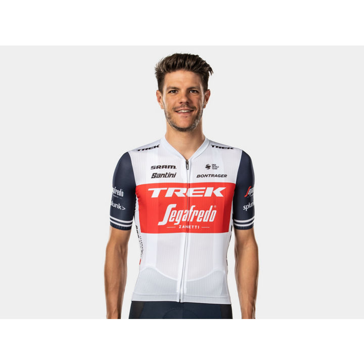 ジャージ Santini Trek-Segafredo Team Medium White/Blue - 1041950