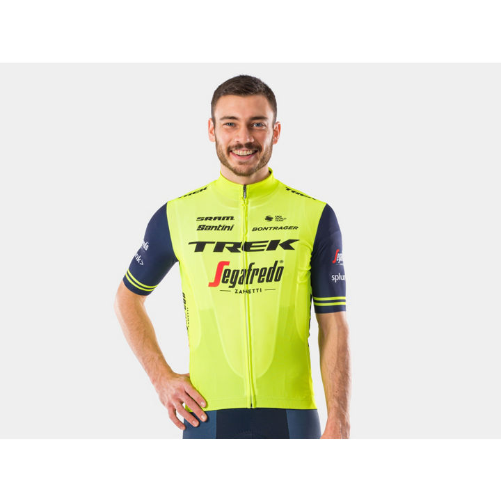 ジャージ Santini Trek-Segafredo Replica SM RadYellow/Dark Blue - 1041987