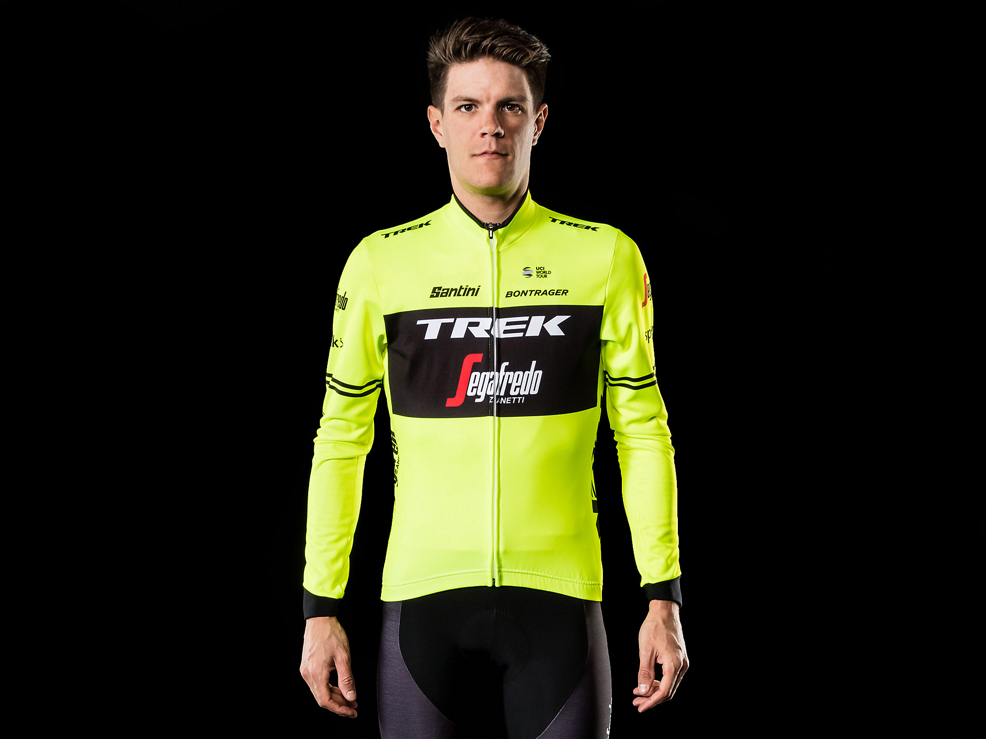 Santini Trek-Segafredo Team Thermal Long Sleeve Jersey db0d37bf3