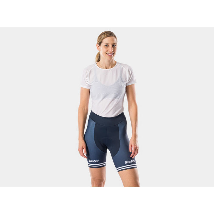 ショーツ Santini Trek-Segafredo Replica Women S Dark Blue/White - 1042012