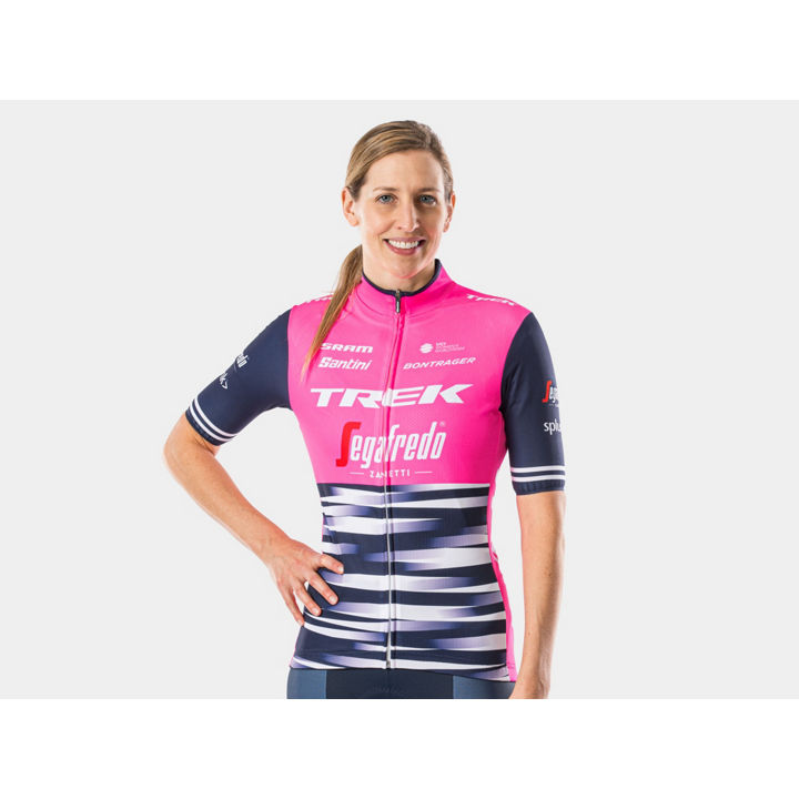 ジャージ Santini Trek-Segafredo Replica Women Small Pink - 1042022