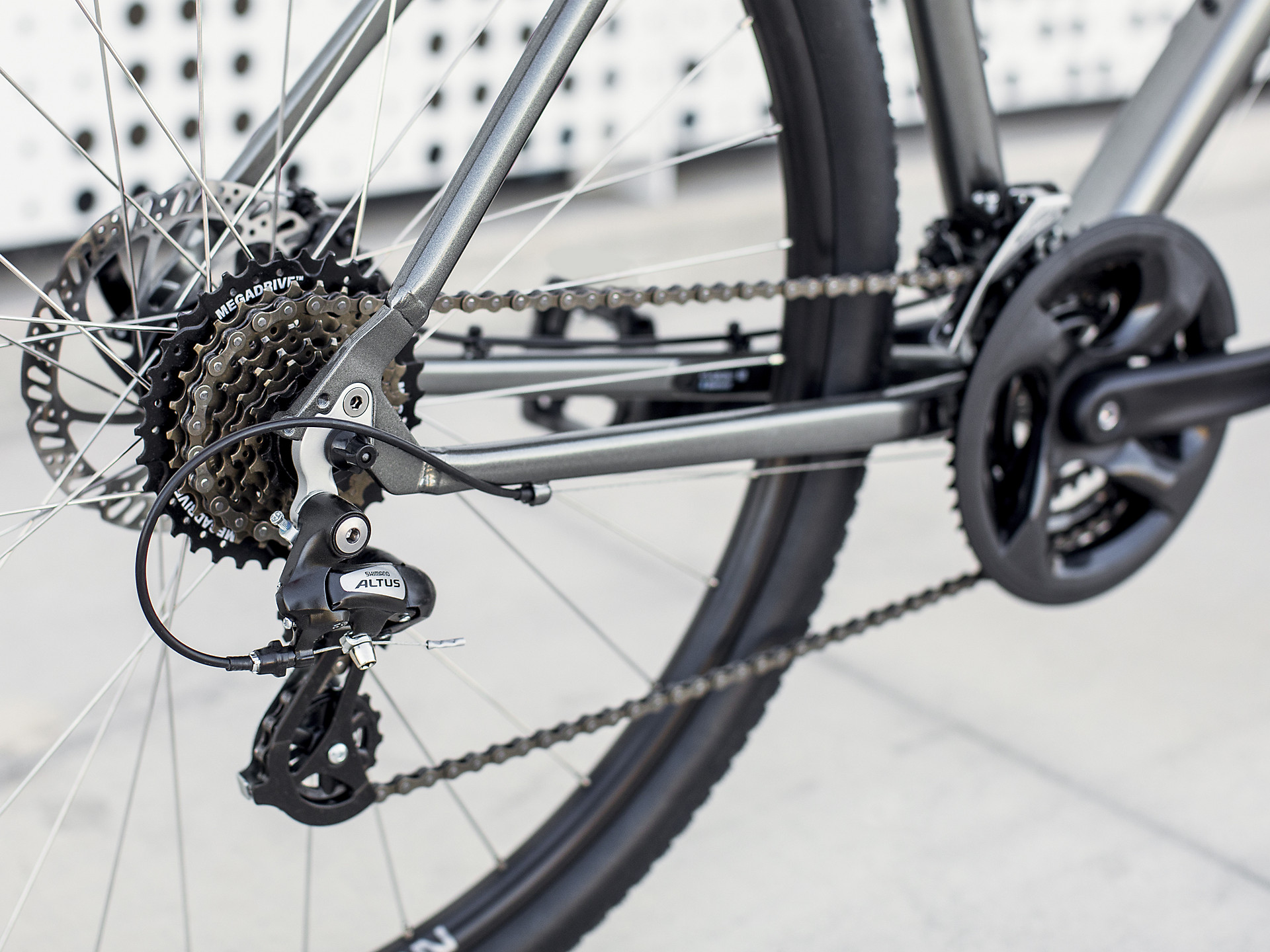Trek Verve 1 Disc brakes with shimano gearing