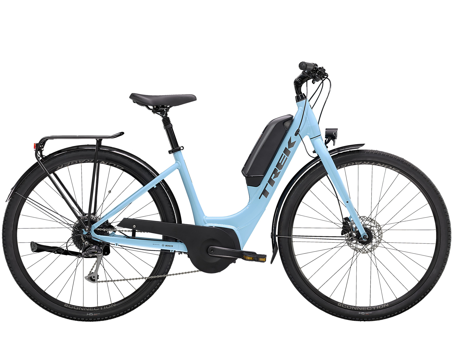 class 1 eBike for city commuting by trek electric bicycles